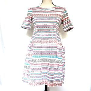 Sister Jane Dolly Folk Stripe Baby Doll Dress M
